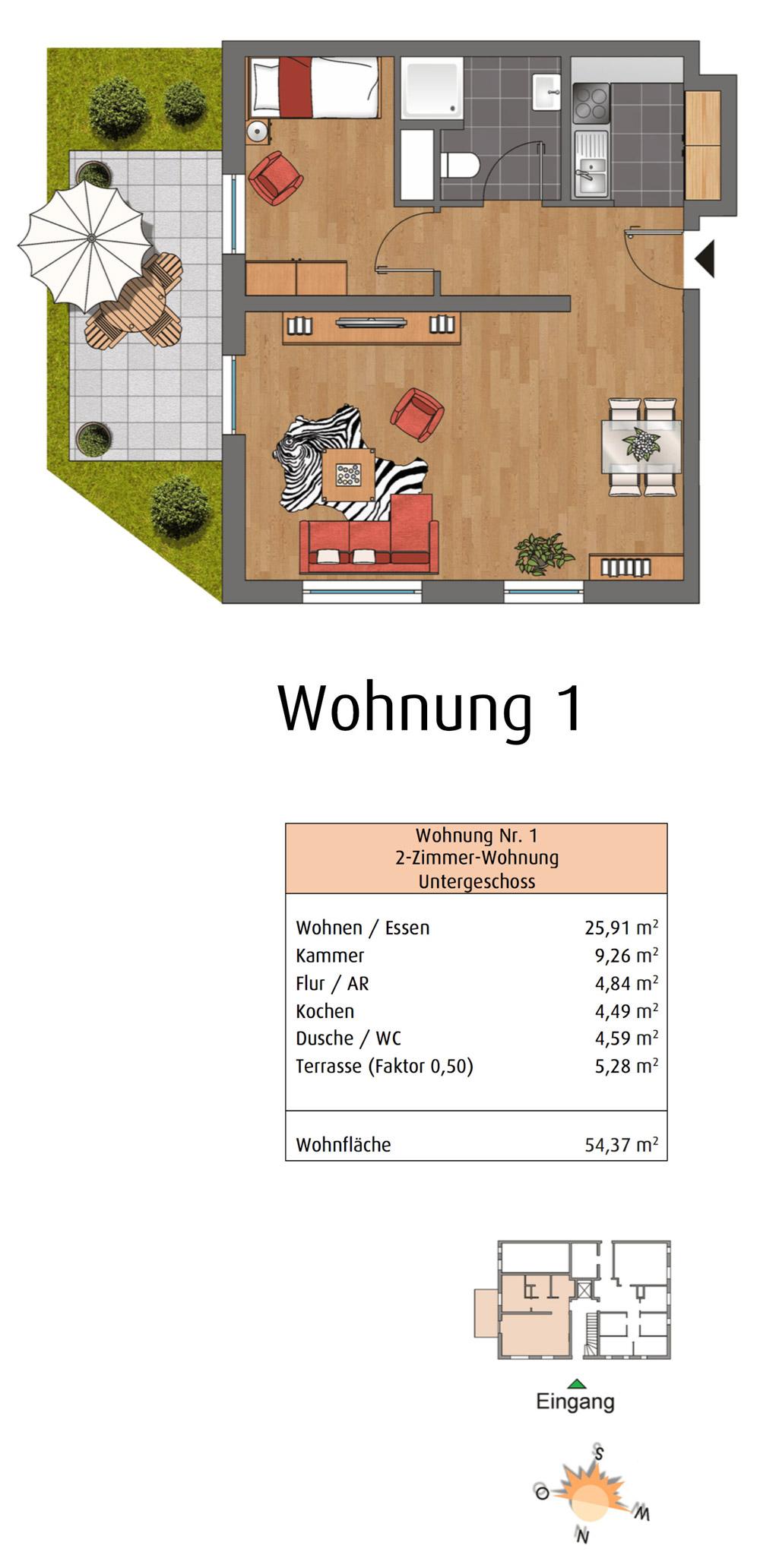 Ehrenberger Straße Wuppertal WE1 Grundriss