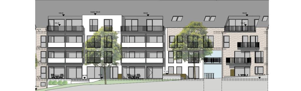 Mietwohnungen Solingen Ellerstraße 34+36 Ansicht Garten